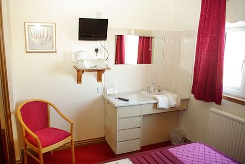 All rooms with TV and other facilities
